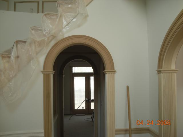 Archway door casing how to make arched window trim for Decorative archway mouldings