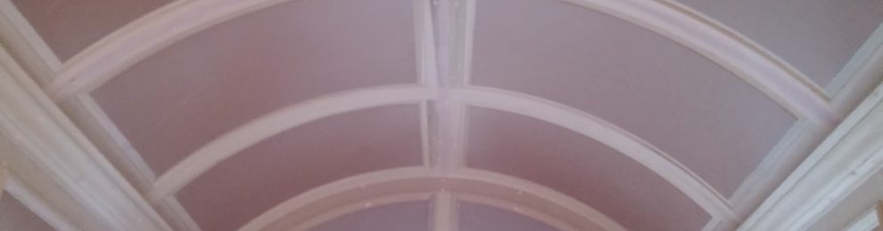 Arch ceiling with MDF panels and Poplar trim & crown
