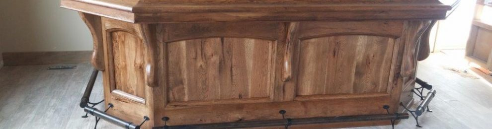 Rustic Hickory Bar