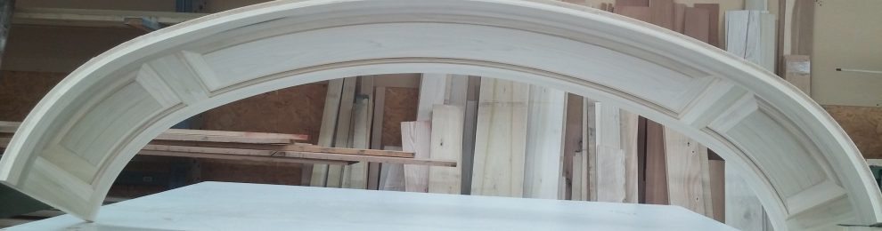 Poplar Raised panel Elliptical Arch